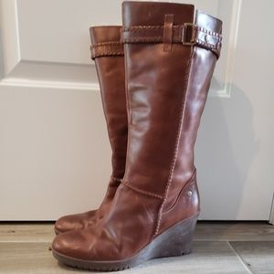 Ugg Shearling lined wedge boot